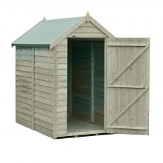 Shire 6 x 4 (1.83m x 1.16m) Shire Value Pressure Treated Overlap Shed - Windowless