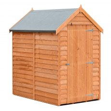 6 x 4 Shire Value Overlap Pressure Treated Shed with Single Door - Windowless - Door closed