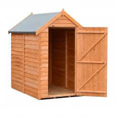 6 x 4 (1.83m x 1.16m) Shire Value Overlap Shed - Windowless