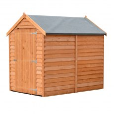 6 x 4 Shire Value Windowless Overlap Shed - isolated