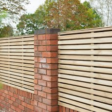 3ft High (900mm) Forest Contemporary Double-Sided Slatted Fence Panel - Pressure Treated