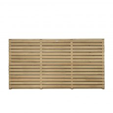 3ft High (900mm) Forest Contemporary Double-Sided Slatted Fence Panel - Pressure Treated  - detail o