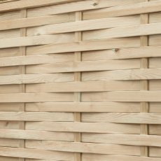3ft High (910mm) Forest Woven Fence Panel - Pressure Treated - close up