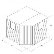 8x8 Forest Overlap Corner Shed - Specification