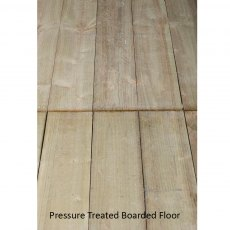 8x8 Forest Overlap Corner Shed - 16mm pressured treated boarded floor