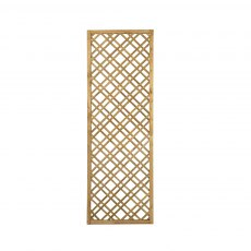 6ft High x 2ft Forest Double Slatted Diamond Lattice Trellis - Pressure Treated - isolated front vie
