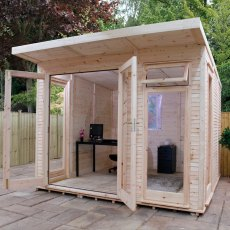 10 x 13 (3.18m x 3.86m) Mercia Insulated Garden Room - Front View - Open Doors