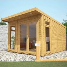 10 x 14 (3.10m x 4.10m) Mercia Insulated Garden Room - Closed Doors and treated