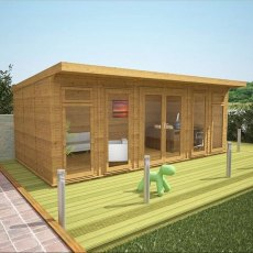 20 x 10 (6.10m x 3.10m) Mercia Insulated Garden Room - Front View Closed Doors