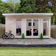 17 x 10 (5.10m x 3.10m) Mercia Insulated Garden Room - Front View - Closed Doors