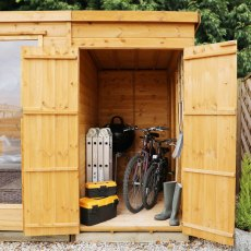 10 x 7 (3.13m x 1.98m) Mercia Corner Summerhouse with Side Storage - Close View of Open Storage
