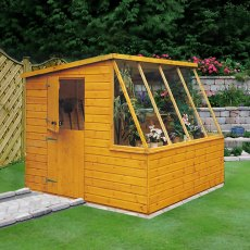 8 x 8 (2.39m x 2.39m) Shire Iceni Potting Shed - Door in Left Hand Side