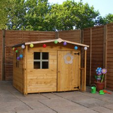 5 x 5 (1.47m x 1.51m) Mercia Rose Playhouse