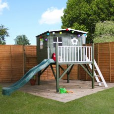 5 x 5 (1.58m x 1.57m) Mercia Rose Playhouse with Tower & Slide
