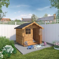 5 x 5 (1.49m x 1.51m) Mercia Poppy Playhouse