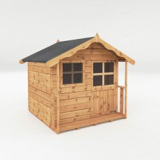 5 x 5 (1.49m x 1.51m) Mercia Poppy Playhouse - side view with door open