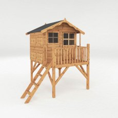 5 x 5 (1.49m x 1.51m) Mercia Poppy Playhouse with Tower