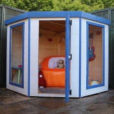 5 x 5 (1.52m x 1.52m) Mercia Contemporary Corner Playhouse