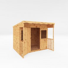 6 x 5 (1.76m x 1.66m) Mercia Pent Wooden Playhouse  - painted with side elevation