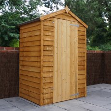 4 x 3 (1.31m x 0.859m) Mercia Overlap Apex Shed - Windowless