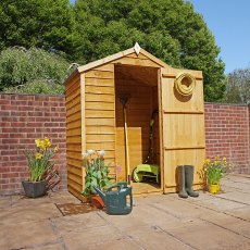 5 x 3 (1.60m x 0.859m) Mercia Overlap Apex Shed - Windowless