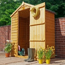 5 x 3 Mercia Overlap Apex Shed - Windowless - angled with door open