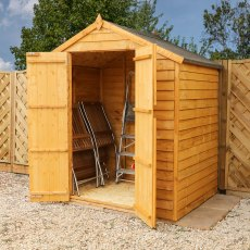 4 x 6 (1.88m x 1.28m) Mercia Overlap Apex Shed - Windowless