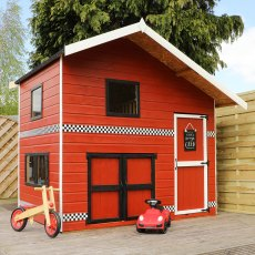 8 x 7 (2.66m x 2.24m) Mercia Double Storey Garage Playhouse