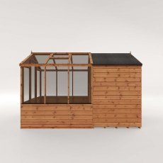 10 x 6 (3.03m x 1.86m) Mercia Greenhouse and Shed Combi - Angled
