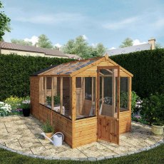 12 x 6 (3.56m x 1.86m) Mercia Greenhouse and Shed Combi