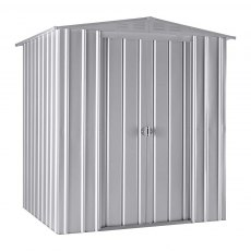 6 x 5 (1.71m x 1.44m) Lotus Apex Metal Shed in Aluminium White