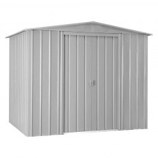 8 x 6 (2.34m x 1.75m) Lotus Apex Metal Shed in Aluminium White