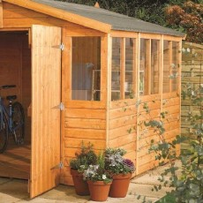 9x6 Rowlinson Workshop Apex Garden Shed - side angle