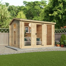 9G x 11 (2.80m x 3.30m) Mercia Woodborough Log Cabin - 19mm Logs