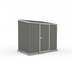 7 x 5 (2.26m x 1.52m) Mercia Absco Space Saver Pent Metal Shed in Grey