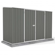 10 x 5 Mercia Absco Space Saver Metal Pent Shed in Grey