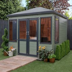 8 x 8 Mercia Clover Summerhouse - in situ