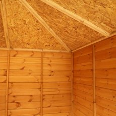 8 x 8 Mercia Vermont Summerhouse - interior showing pinnacle roof