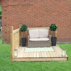 8 x 8 (2.49m x 2.46m) Forest Patio Deck Kit - Pressure Treated