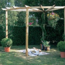 Forest Radial Pergola - Pressure Treated
