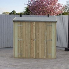 3 x 6 (0.75m x 1.79m) Shire Pent Overlap Shed with Double Doors – Pressure Treated