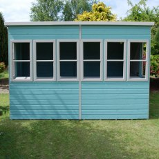 10 x 8 (3.04m x 2.39m) Shire Sun Pent Shiplap Potting Shed