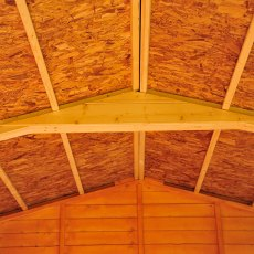 10x8 Shire Overlap Apex Shed - No Windows - OSB Roof With Truss
