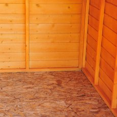 12 x 8 (3.59m x 2.39m) Shire Overlap Apex Garden Shed - No Windows - osb floor