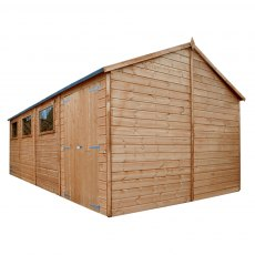 10 x 20 (3.18m x 6.06m) Mercia Premium Reverse Apex Shiplap Workshop - Pressure Treated