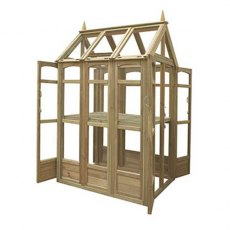 4 x 3 Forest Victorian Walkaround Greenhouse - Isolated