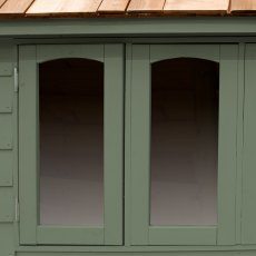 6 x 4  Forest Retreat Redwood Lap Pressure Treated Shed - Moss Green - Detail of window