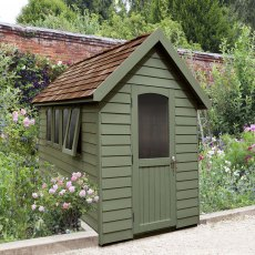 8 x 5  (2.41m x 1.50m) Forest Retreat Redwood Lap Shed PT in Moss Green - Free Installation