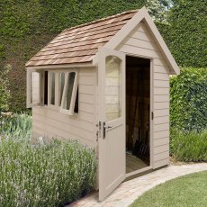 8 x 5  (2.41m x 1.50m) Forest Retreat Redwood Lap Shed PT in Natural Cream - Free Installation