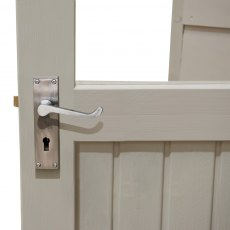 8 x 5 Forest Retreat Pressure Treated Redwood Lap Shed  in Natural Cream - Detail of door hinge